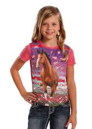 Rock & Roll Cowgirl Horse Screen Print Tee
