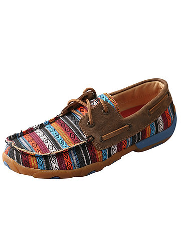 Twisted X Women's Driving Moccasins – Serape/Bomber