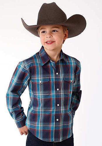 Boys Long Sleeve Western Shirt