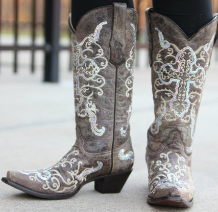 Corral Women's Tobacco/Silver Cross Boots
