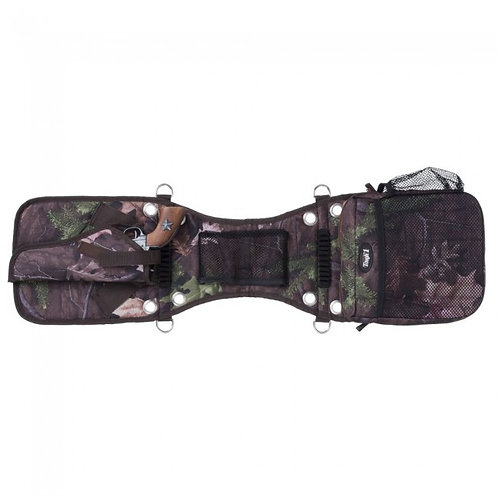 Saddle Bag/Gear Carrier with Gun Holster in Tough Timber