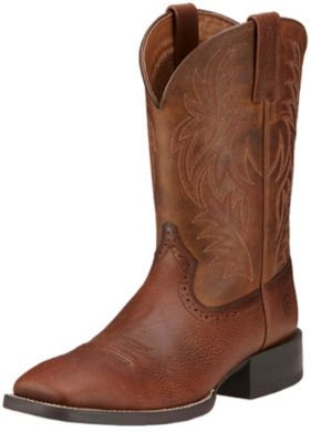 ARIAT Men's Sport Saddle Boot - Fiddle Brown / Powder Brown 10016291