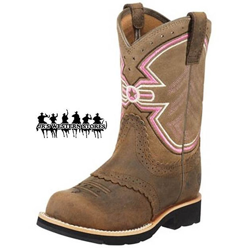 Ariat Fatbaby Freedom Brown/Pink Kid's Boot