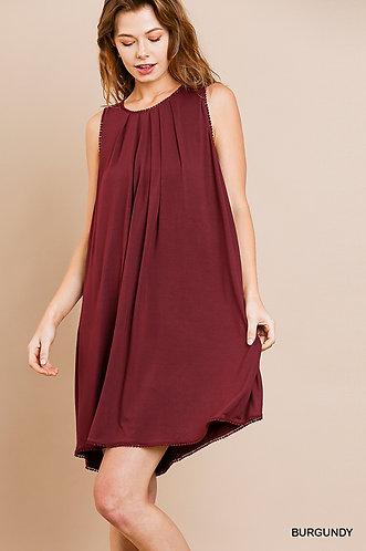 UMGEE Sleeveless Basic Round Neck Shift Dress