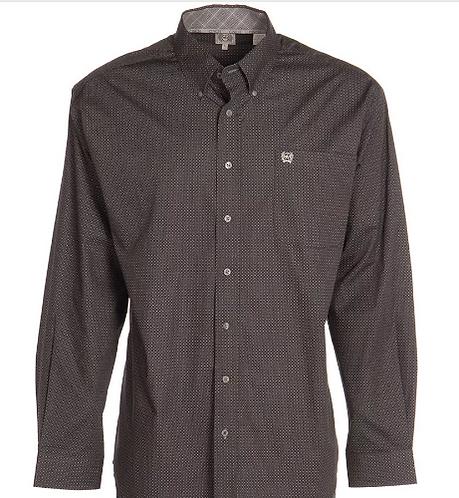 Grey Circle Print Long Sleeve Shirt