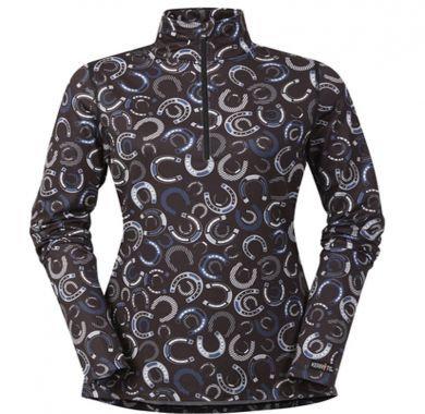 Kerrits Women's Shoe-In Quarter Zip blk Shirt 40595