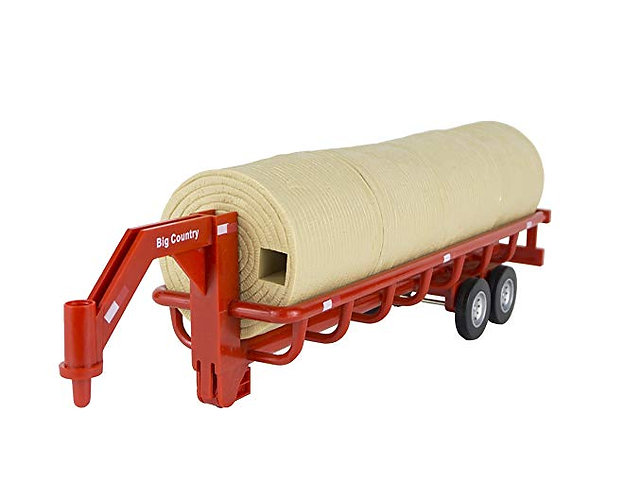 Big Country Toys Hay Trailer - 1:20 Scale - Farm Toys & Ranch Toys - Hay Baling