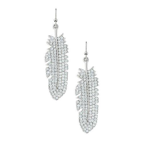 Shimmering Feather Earrings