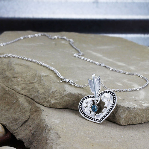 Shot in the Heart with a Big Sky Arrow Necklace