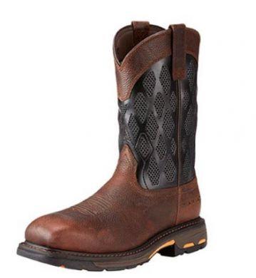 Ariat Men's Workhog Venttek Matrix Boots Brown/Charcoal 10023094