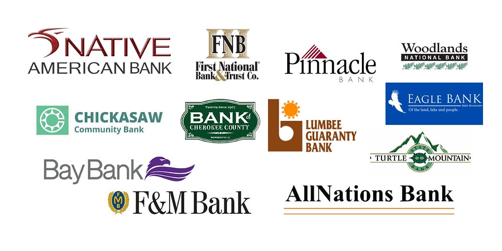 list of 12 native amerian banks focused on providing financial services to first nations peoples in the USA.  This is not a complete list as there are many native american focused credit unions as well.
