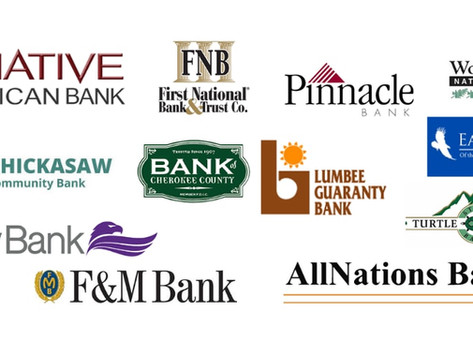 12 Native American banks providing financial services to Native Americans across the USA.