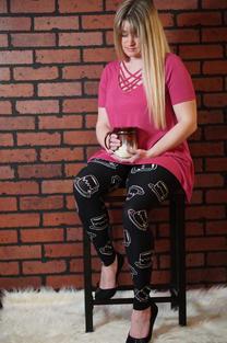 Wide Waistband printed leggings