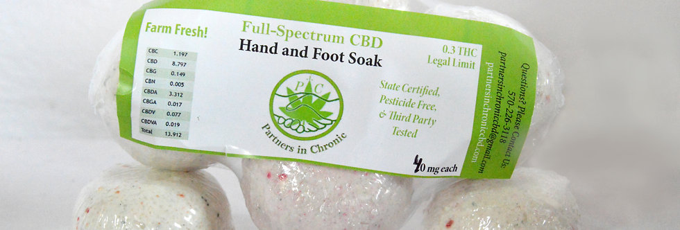 Hand and Foot Soaks 40 Mg  4 pack
