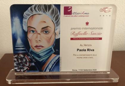 Targa di Riconoscimento Premio Internazionale Raffaello Sanzio - Roma