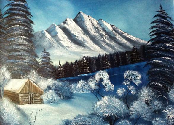 Neve nella foresta