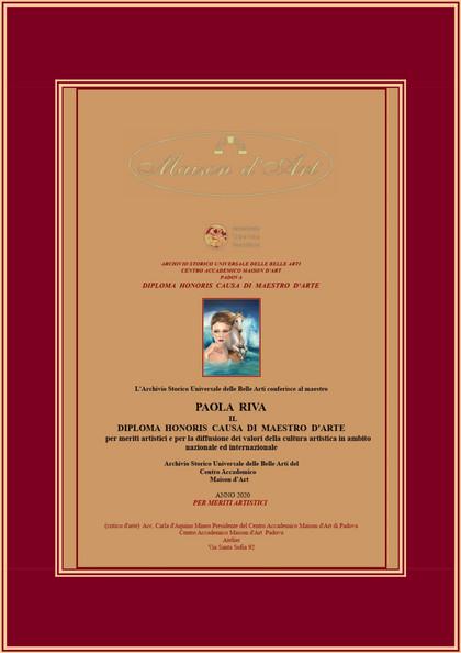 Diploma Honoris Causa di maestro d'arte per meriti artistici