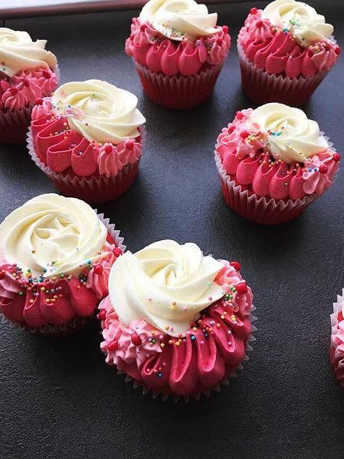 Elegant Red Velvet Cupcakes, box of 6