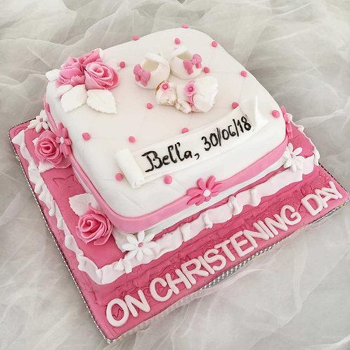 pink christening cake eves cakes dublin