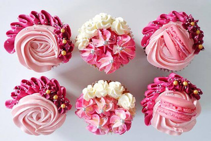 Pink Buttercream Cupcakes Birthday Eves Cakes Dublin