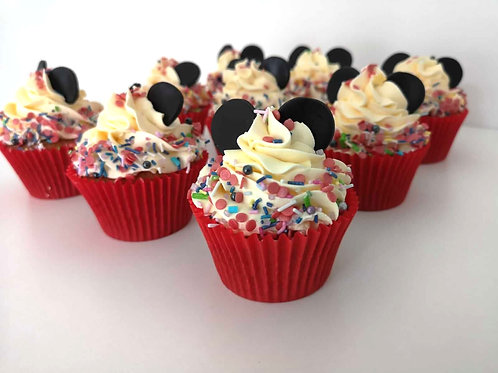 minnie mouse cupcakes for kids bday party
