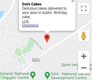 Evecakes in dublin Google maps location.
