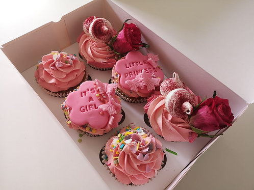 It's a Baby Girl/Boy Cupcakes, box of 6