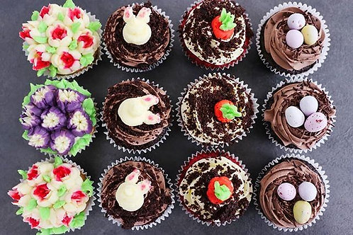 Easter Chocolate Cupcakes, box fo 12