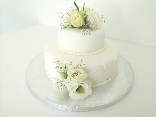 Simple Chocolate Biscuit Wedding Cake Made in Dublin