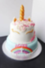 christening cake- unicorn style for Aoif