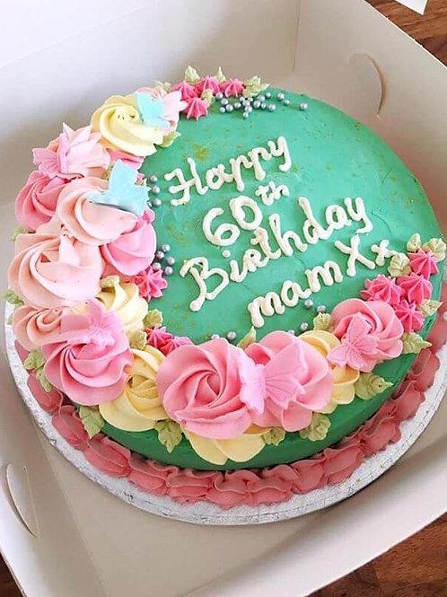 floral birthday cake for mum, mothers birthday cake