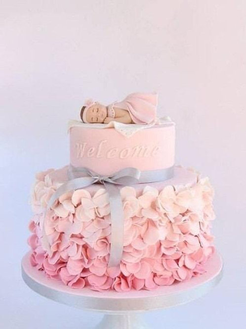Baby's Christening Cake with Ruffles