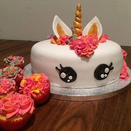 "Chocolate Biscuit Unicorn Cake 8"""