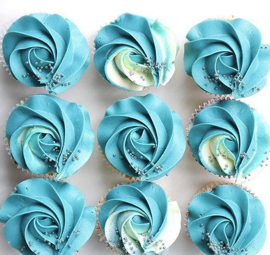 Blue and Sprinkled Cupcakes Eves Cakes