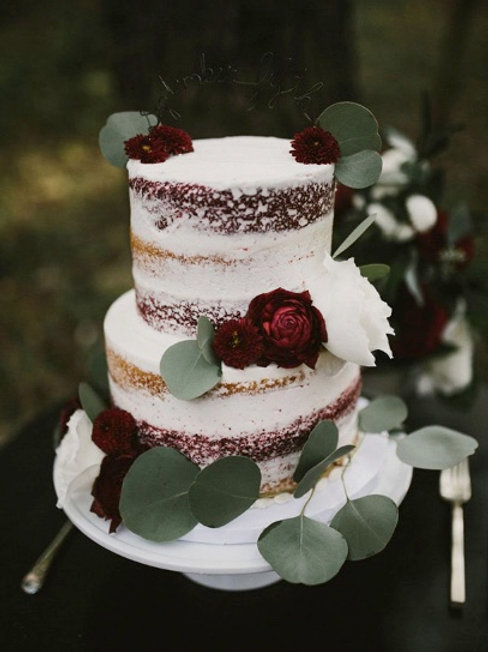 Rustic Wedding Cake, Semi Naked