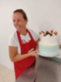 Eve Leppik - eve's cakes owner smiling a