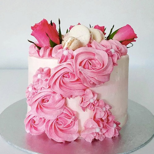 Pink Buttercream and Roses
