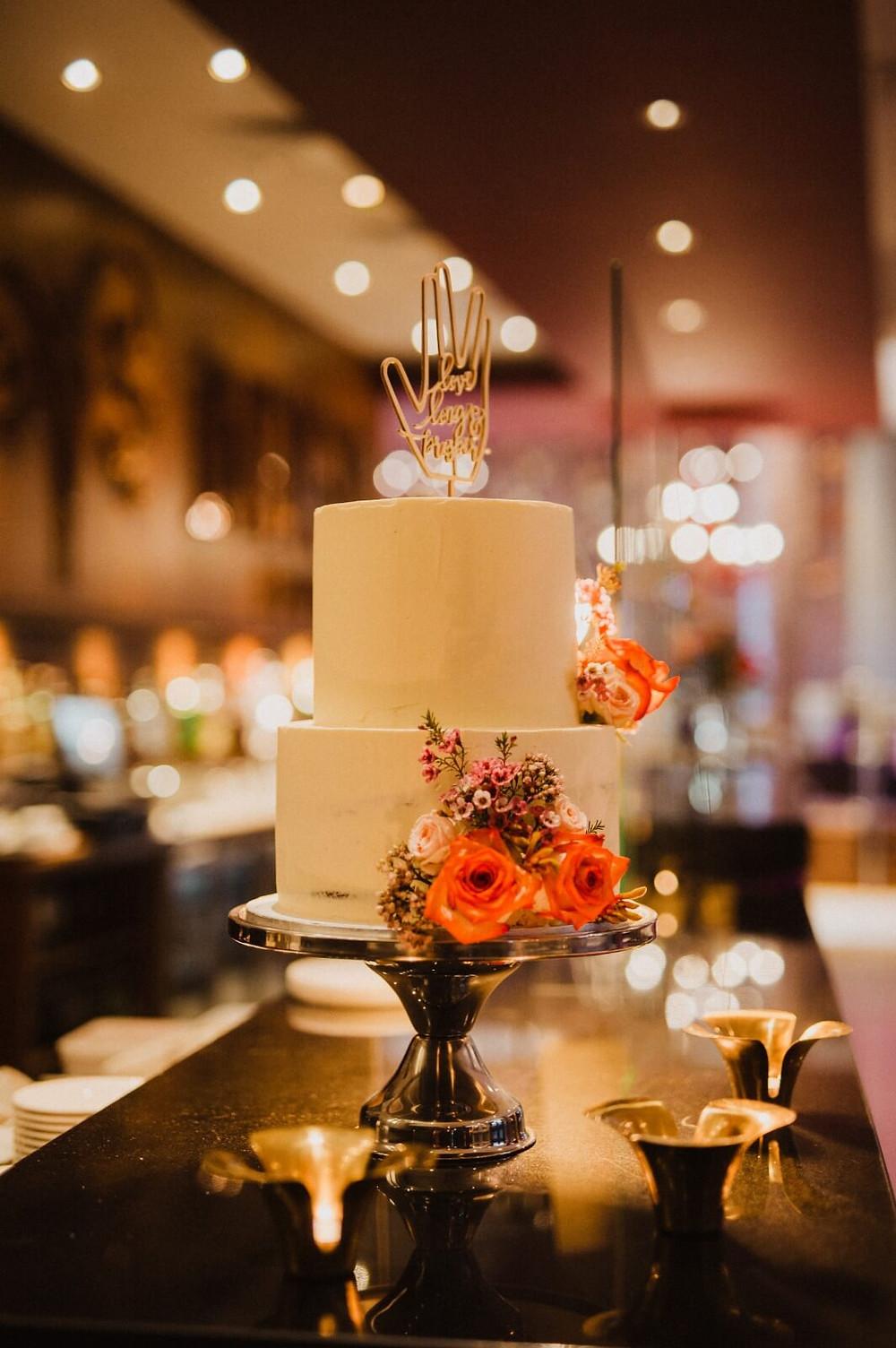 Vulcan Cake Topper on a Wedding Cake