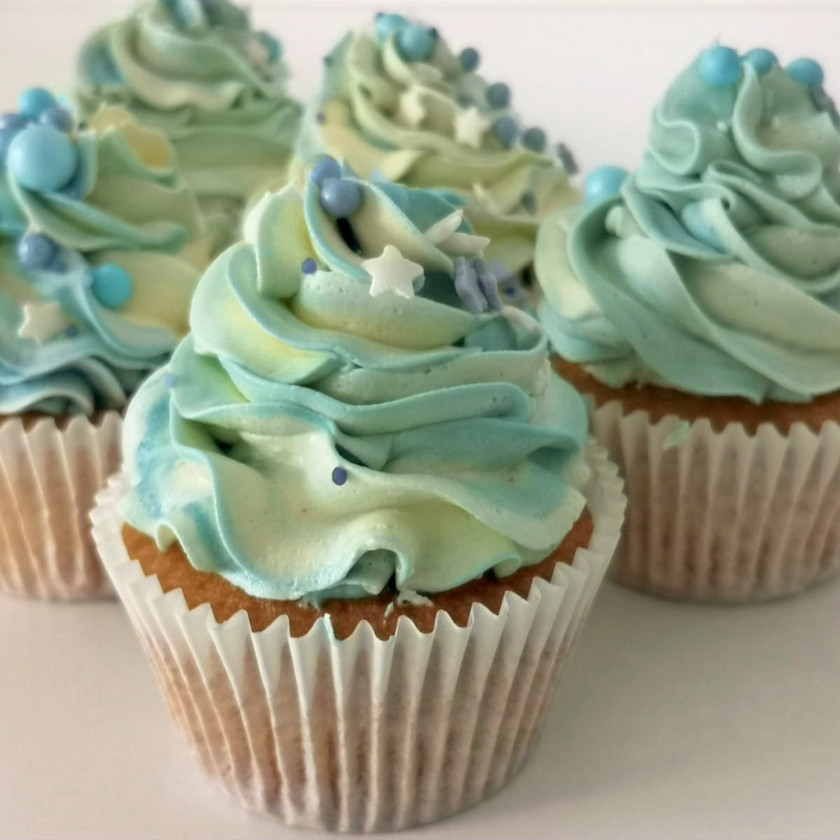 Baby Blue Cupcakes
