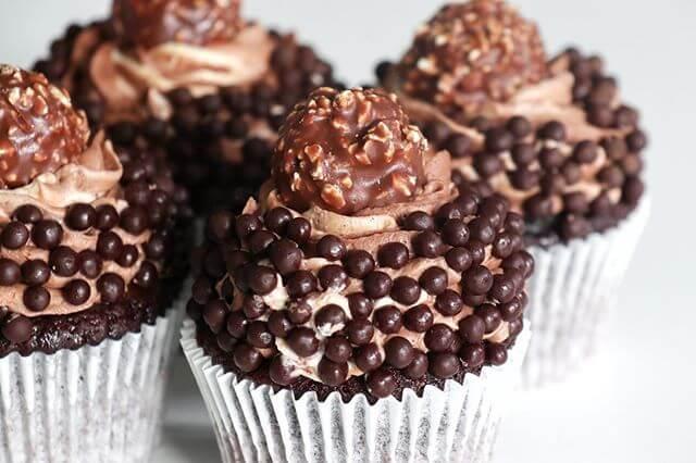 Chocolate Ferrero Cupcakes Dublin ireland