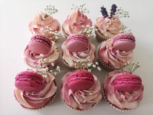 beautiful wedding cupcakes in pink in dublin ireland