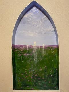 00, Oil Paint on Plywood, 60.9cm x 31.7cm x 6.3 cm