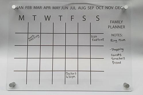 Modern Acrylic wall mounted calendar