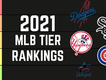 2021 MLB Tier List Rankings