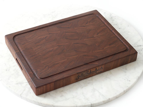 Julie Taboulie End-Grain Custom Cutting Board, Black Walnut