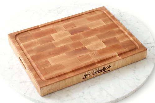 Julie Taboulie End-Grain Custom Cutting Board, Maple