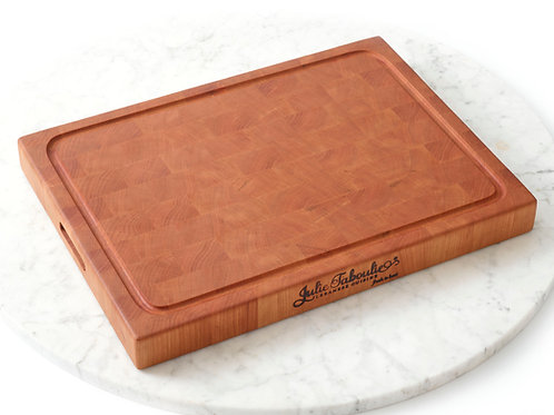 Julie Taboulie End-Grain Custom Cutting Board, Cherry