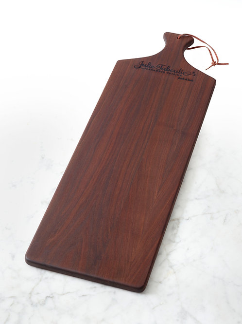 Julie Taboulie Mezze Board, Long-Grain, Black Walnut
