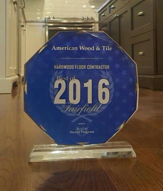 American Wood & Tile Receives 2016 Best of Fairfield Award