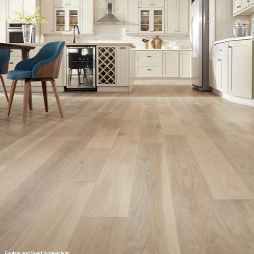 "7"" Wide Planks Natural Edinburgh White Oak Matte Hardwood - 1/2"" x 7"""